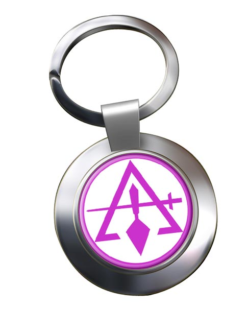 Council of Royal & Select Masters of Cryptic Masons (York Rite) Chrome Key Ring
