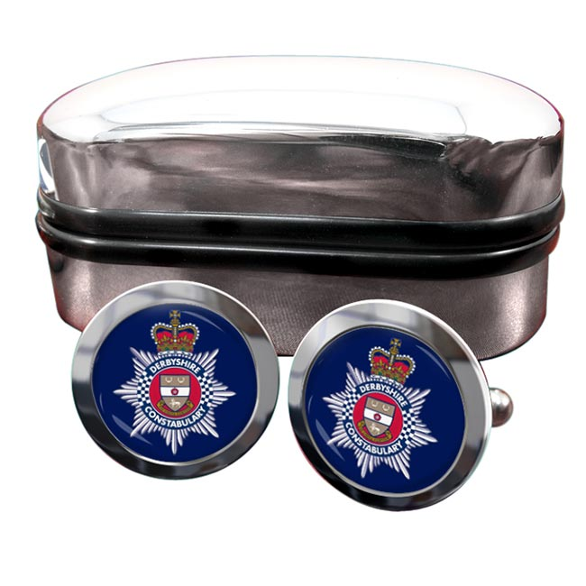 Derbyshire Constabulary Round Cufflinks