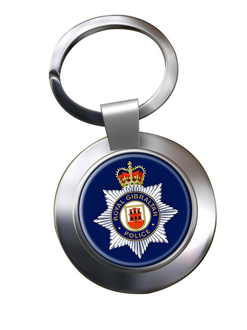 Royal Gibraltar Police Chrome Key Ring