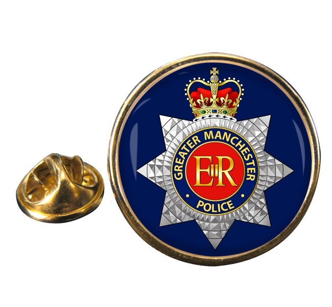 Greater Manchester Police Round Pin Badge