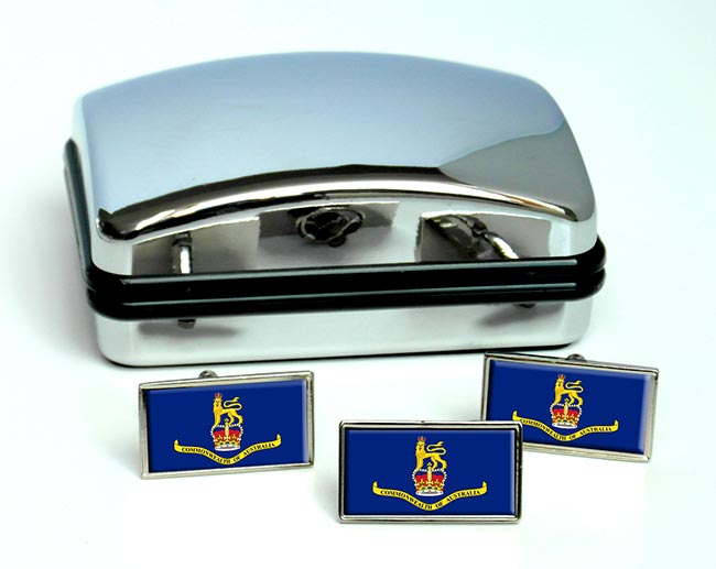 Governor-General of Australia Rectangle Cufflink and Tie Pin Set