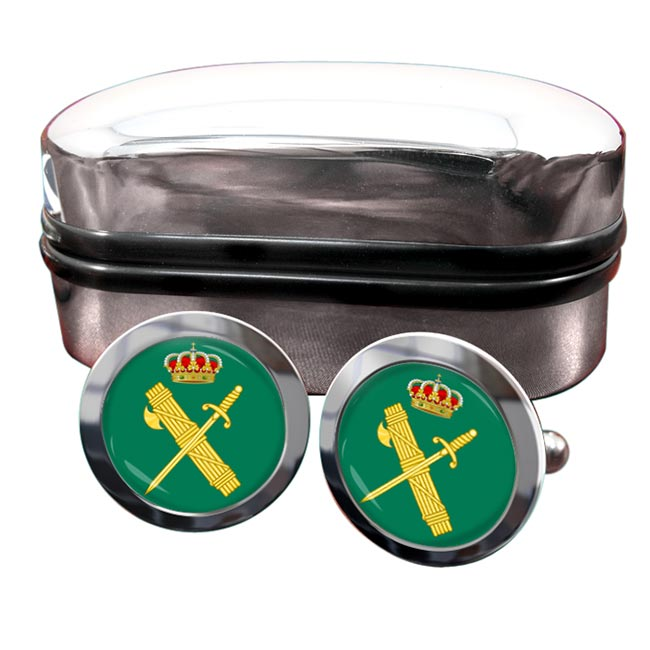Guardia Civil Round Cufflinks