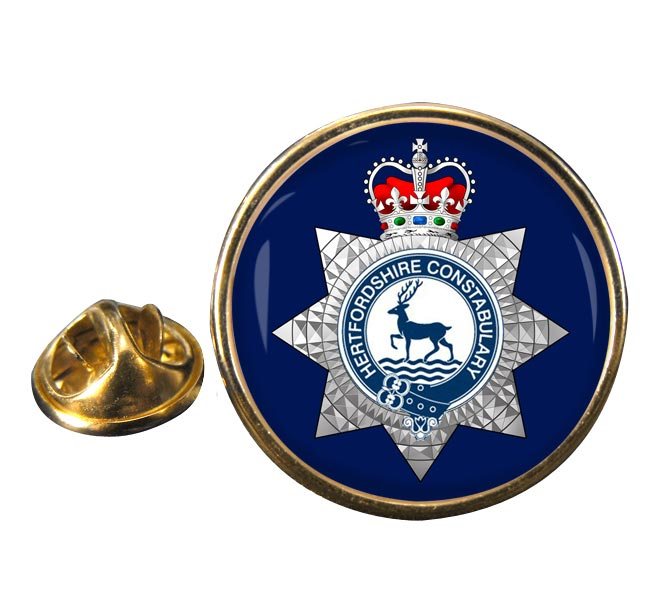 Hertfordshire Constabulary Round Pin Badge