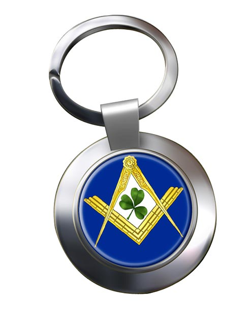 Irish Masons Masonic Chrome Key Ring