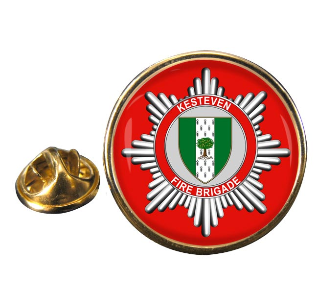 Kesteven Fire Brigade Round Pin Badge