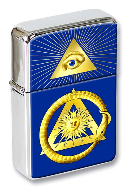 Masonic serpent Flip Top Lighter