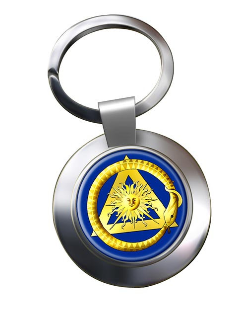 Masonic serpent Chrome Key Ring