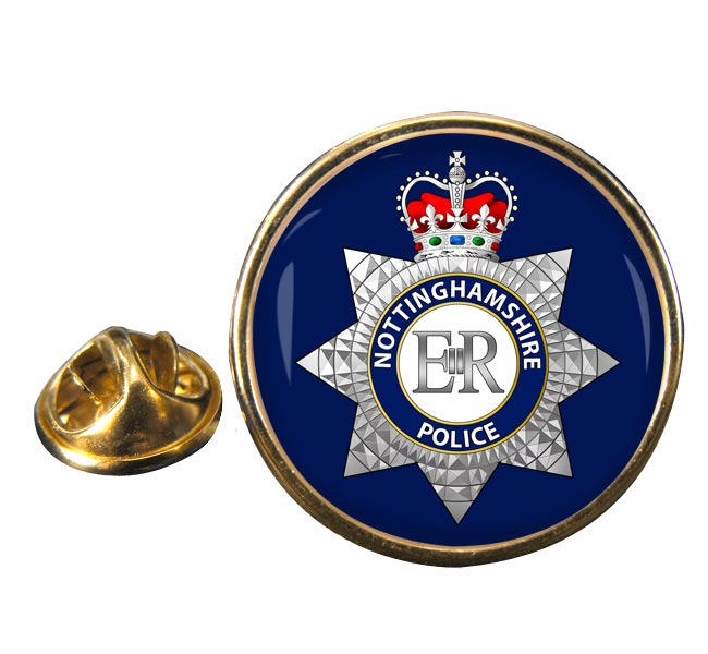 Nottinghamshire Police Round Pin Badge