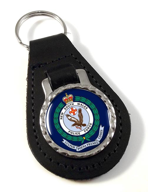 New South Wales Police Leather Key Fob