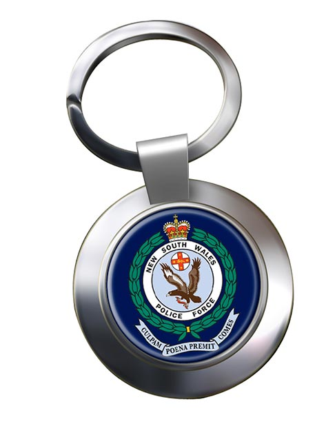 New South Wales Police Chrome Key Ring