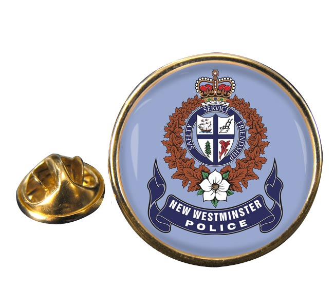 New Westminster Police (Canada) Round Pin Badge