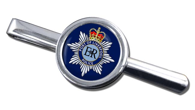 Port of Liverpool Police Round Tie Clip
