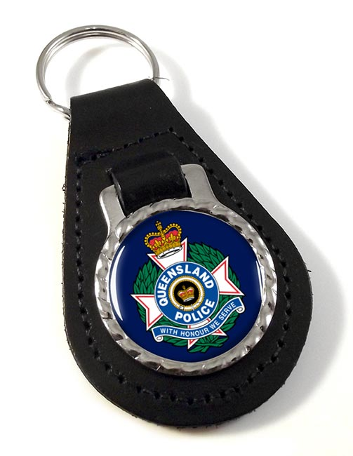 Queensland Police Leather Key Fob