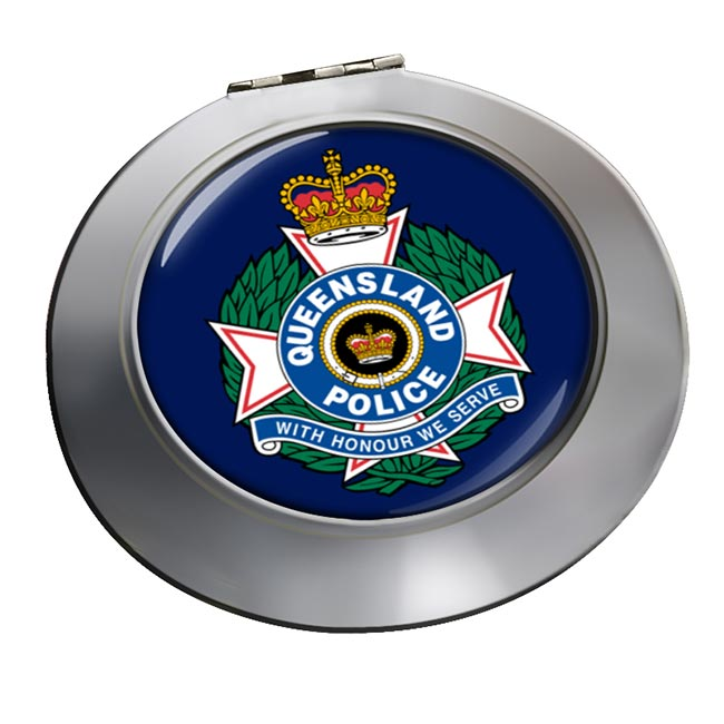 Queensland Police Chrome Mirror
