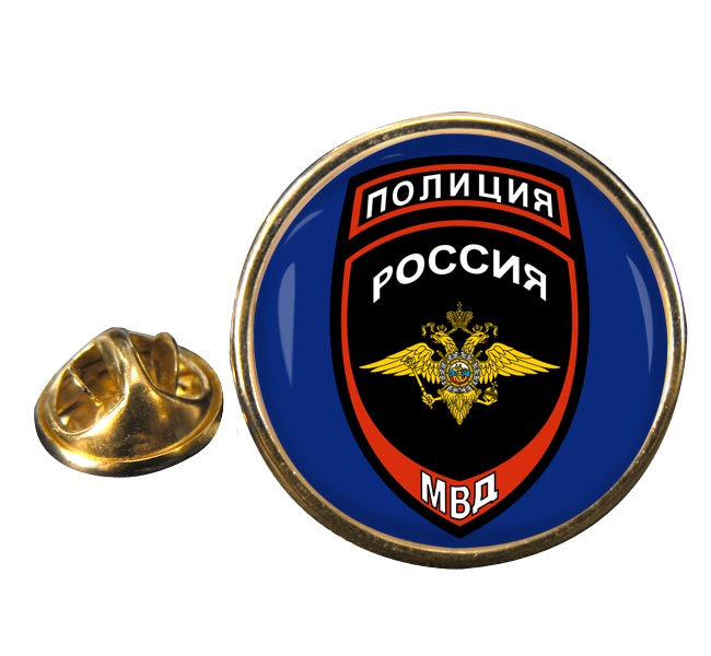 Russian Police� Round Pin Badge
