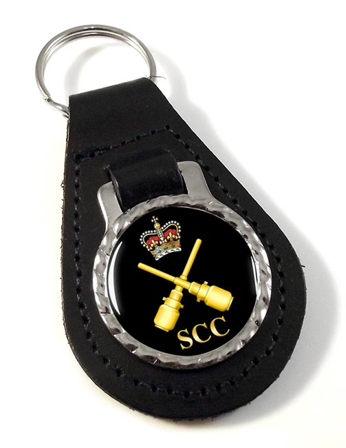 SCC Drill instructor Leather Key Fob