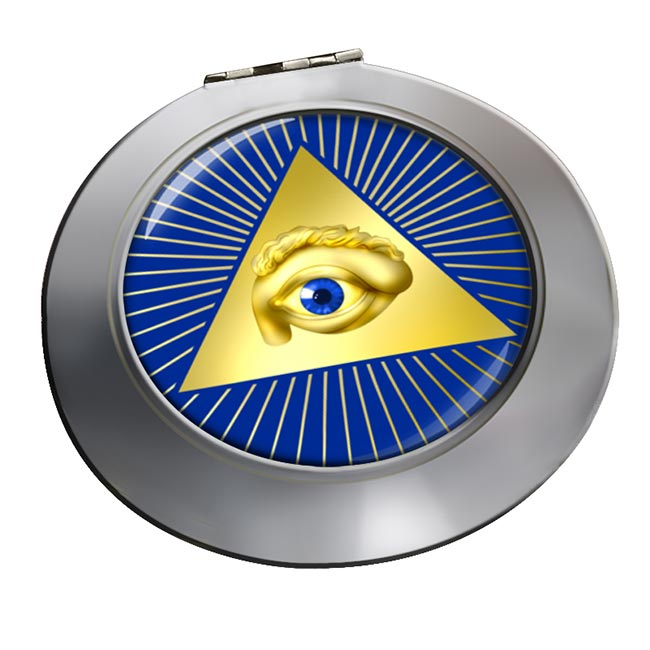 Eye of Providence (All Seeing Eye of God) Chrome Mirror