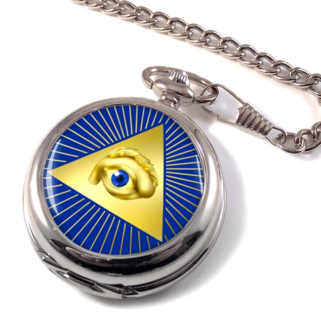 Eye of Providence (All Seeing Eye of God) Pocket Watch