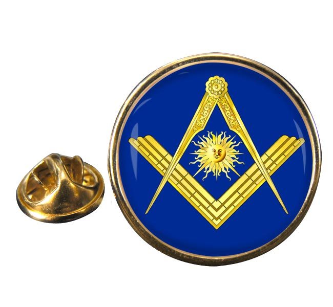 Masonic Lodge Senior Deacon Round Pin Badge