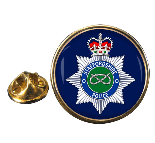 Staffordshire Police Round Pin Badge