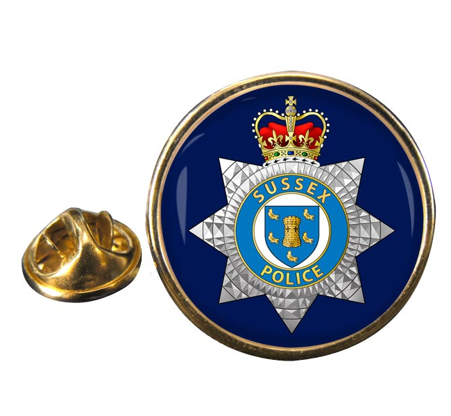 Sussex Police Round Pin Badge