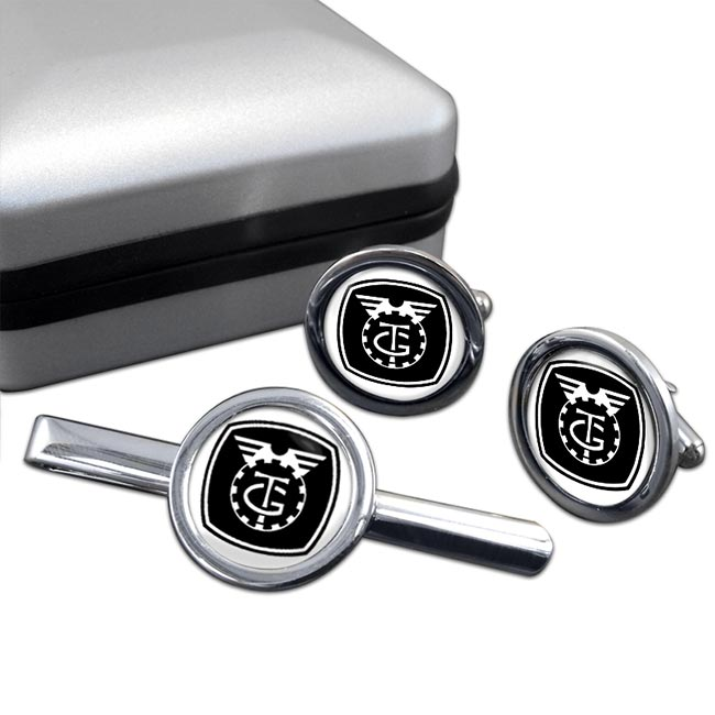 TGWU Round Cufflink and Tie Clip Set