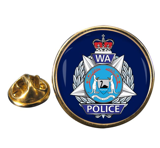 Western Australia Police Round Pin Badge