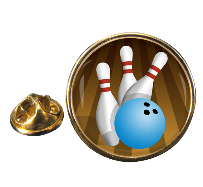 10 Pin Bowling Round Pin Badge