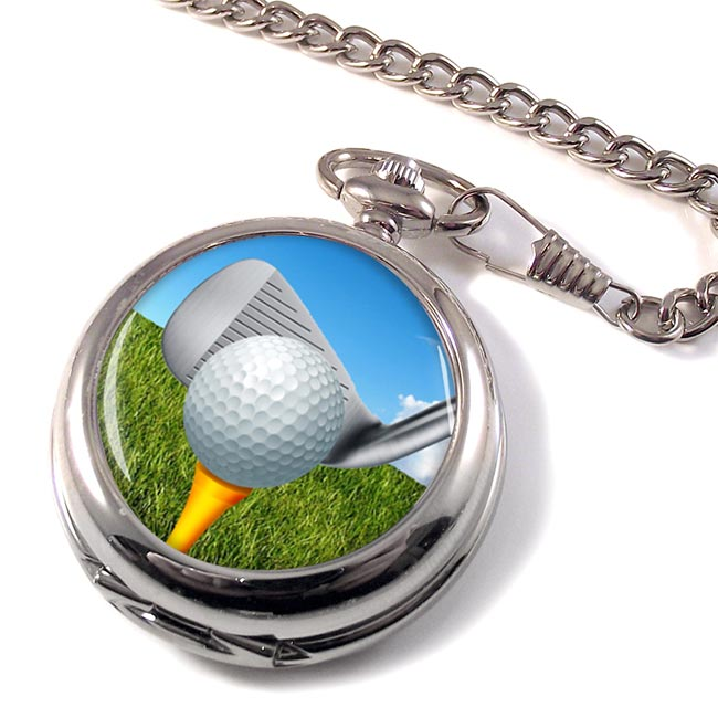 Golf Addressing the ball Pocket Watch