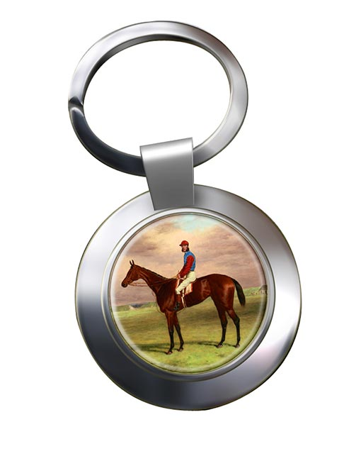 Bay Filly Agility by H. Hall Chrome Key Ring