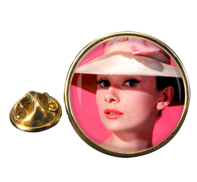 Audrey Hepburn Round Pin Badge