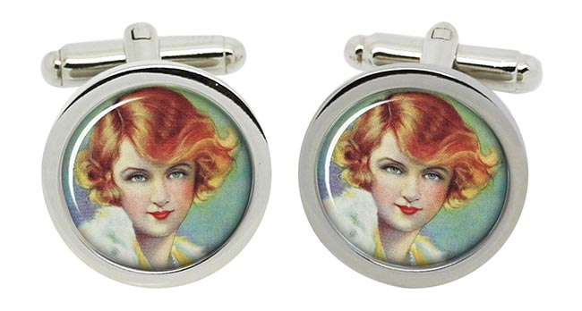 Billie Burke, Silent Film Actress Actress Round Cufflinks