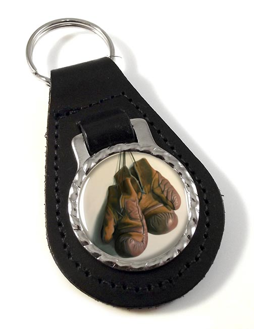 Boxing Gloves Leather Key Fob