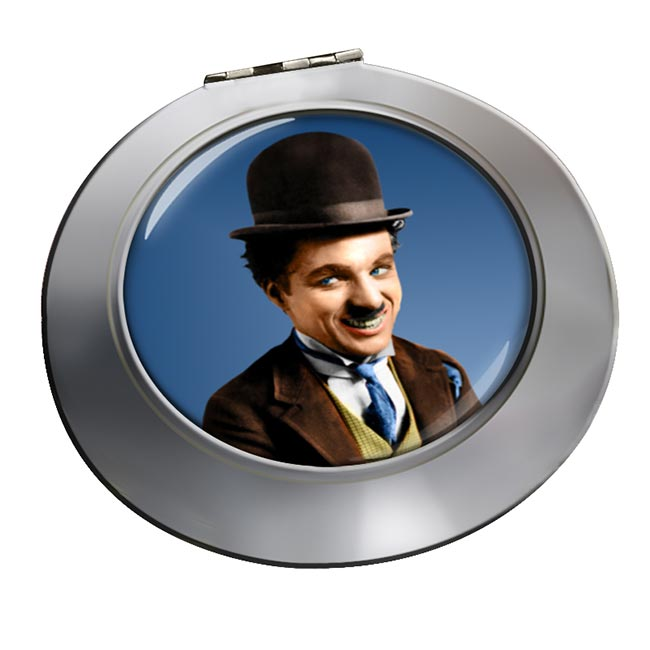 Charlie Chaplin Chrome Mirror