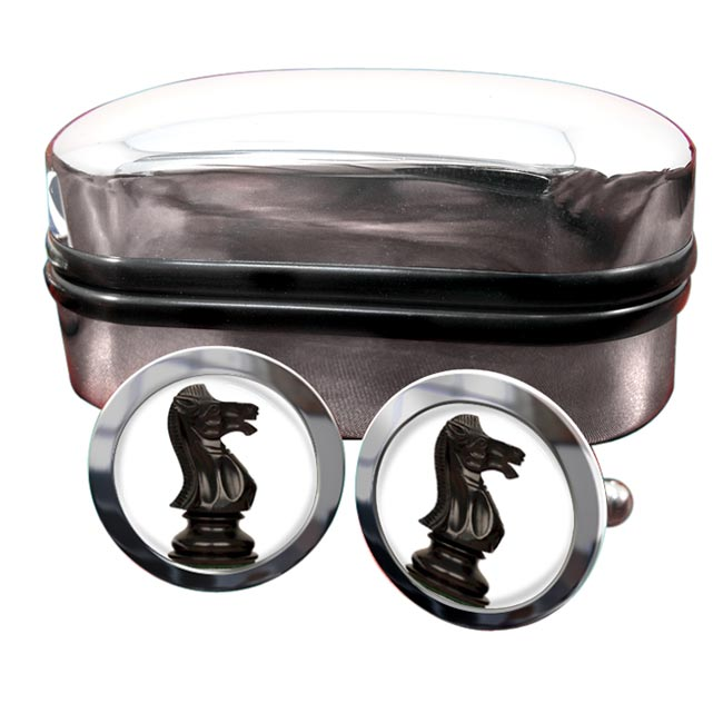 Chess Knight Round Cufflinks