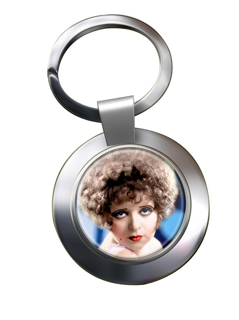 Clara Bow Chrome Key Ring