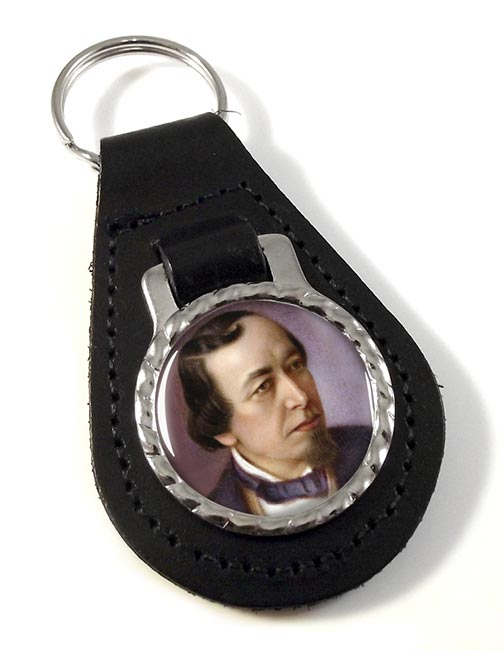 Benjamin Disraeli Leather Key Fob