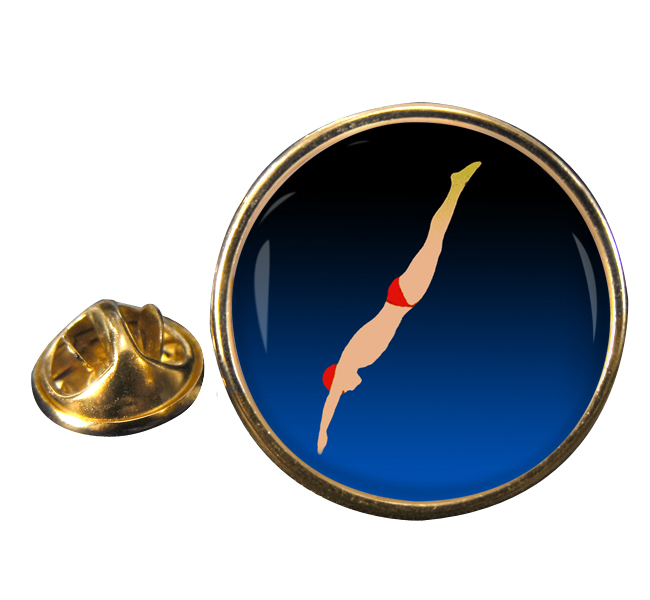 High Dive Round Pin Badge