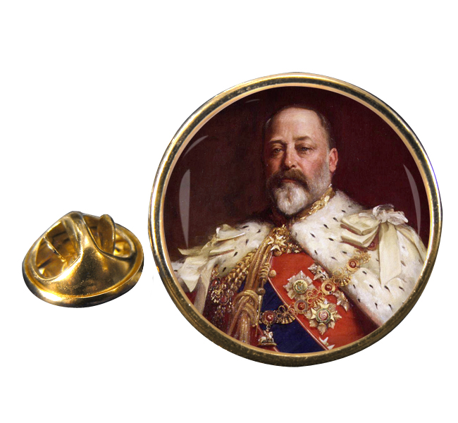King Edward VII of Great Britain Round Pin Badge