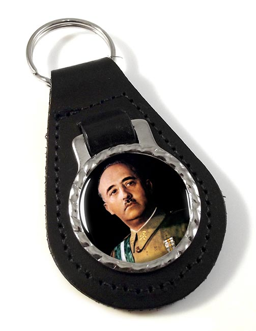 Generalissimo Franco Leather Key Fob