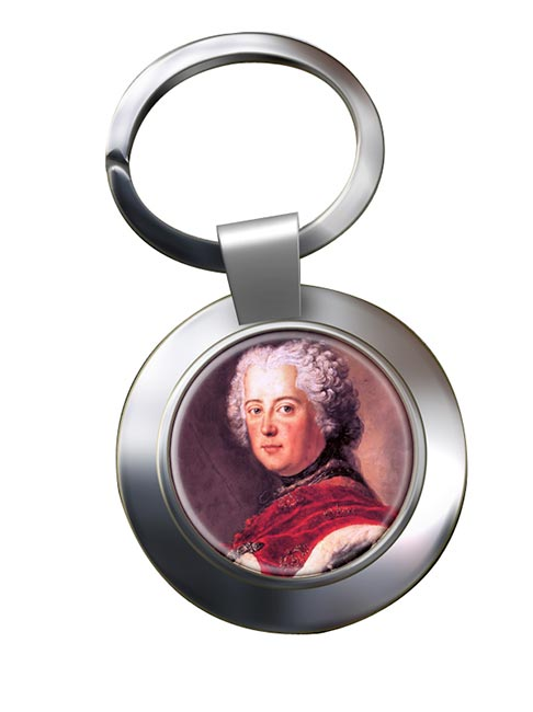 Frederick the Great Chrome Key Ring