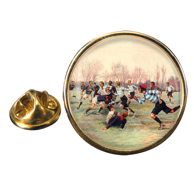 French Rugby at St. Cloud 1906 Round Pin Badge