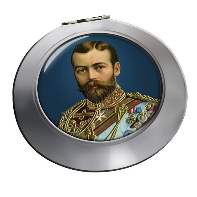 King George V of Great Britain Chrome Mirror