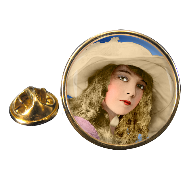 Lillian Gish Round Pin Badge