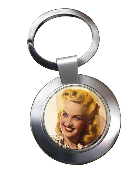 Betty Grable Chrome Key Ring