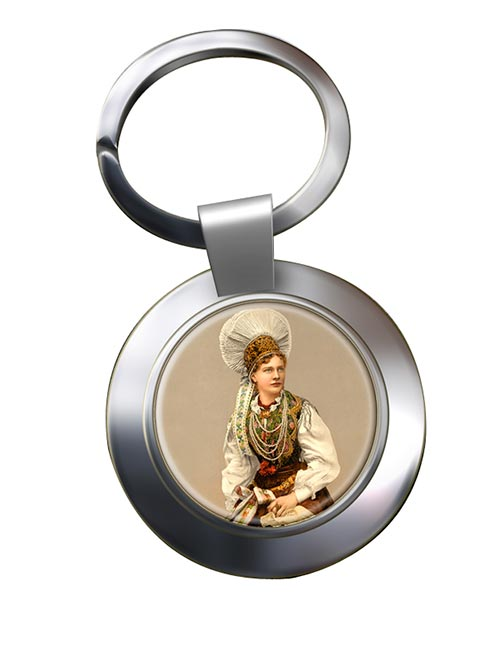 A Hungarian Woman Chrome Key Ring