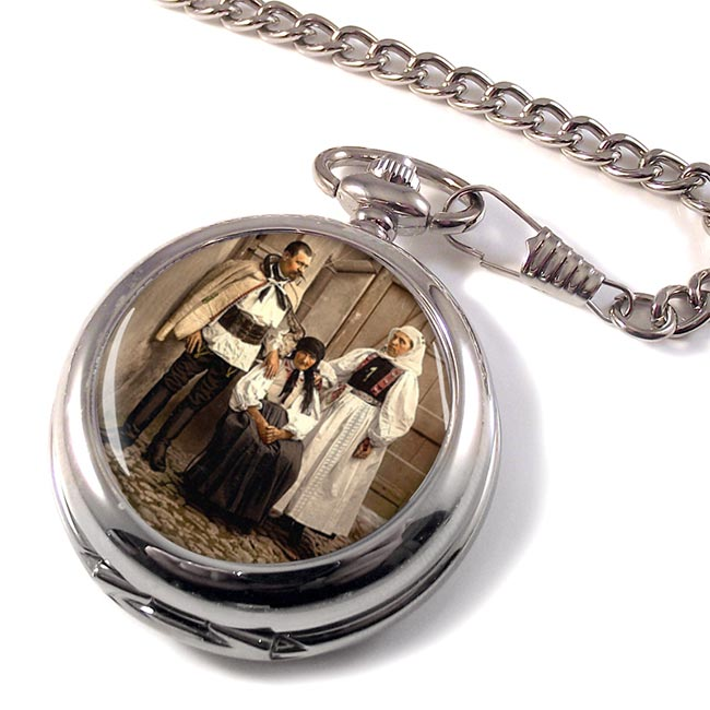 Hungarian National Costume Pocket Watch