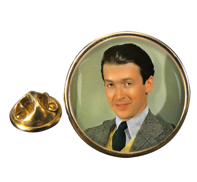 James Stewart Round Pin Badge