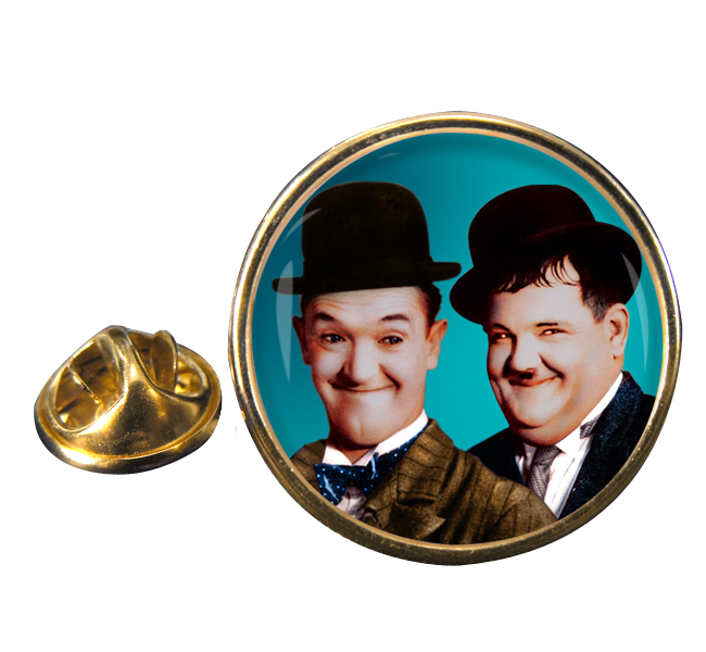Laurel and Hardy Round Pin Badge