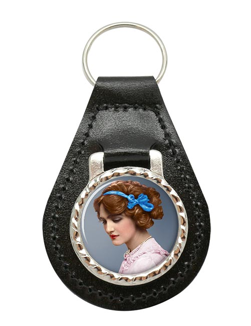 Lily Elsie Leather Key Fob